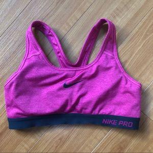 Nike Pro Pink Sports Bra